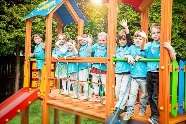 Plac zabaw na terenie przedszkola Edukoland